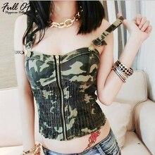 Sexy Camis crop top women Summer befree shirt halter beach tank Nightclub Camouflage party cropped streetwear vest Hot