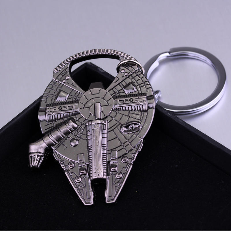 Image 5 - Bottle Opener Keychain Metal Stainless Steel Key rings Collection Figurines For Star War Fans Gifts-in Action & Toy Figures from Toys & Hobbies
