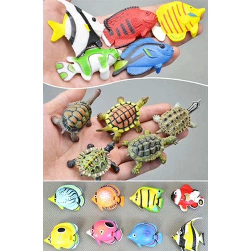 1 Set Anime Plastic Tropical Fish Tortoise Model 5CM PVC Sea Life Fish Action Figure Toys Aquatic Creatures For Home Decoration корм tetra tetramin xl flakes complete food for larger tropical fish крупные хлопья для больших тропических рыб 10л 769946