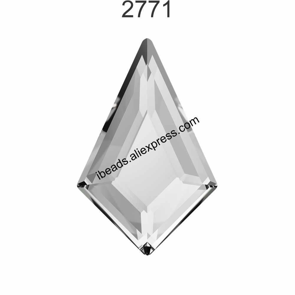 ... (2 pieces) 100% Original Crystals from Swarovski 2771 Kite Flat Back  stone no ... 47ebc1da9b09