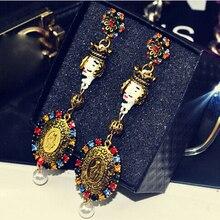 D@ G летние серьги в стиле барокко, Винтажные висячие серьги для женщин, новые модные ювелирные изделия