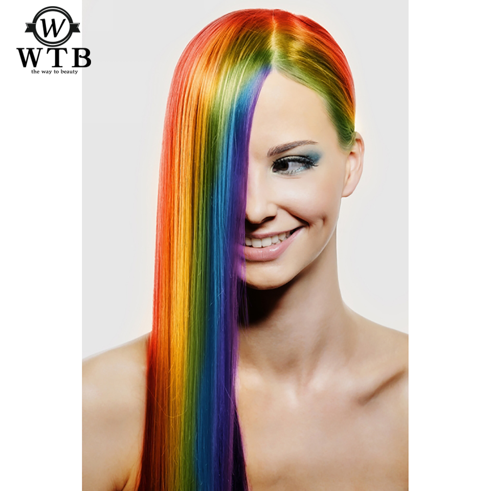 Hot Sale Wtb 1 Clip In Hair Extensions Heat Resistant Synthetic Fake