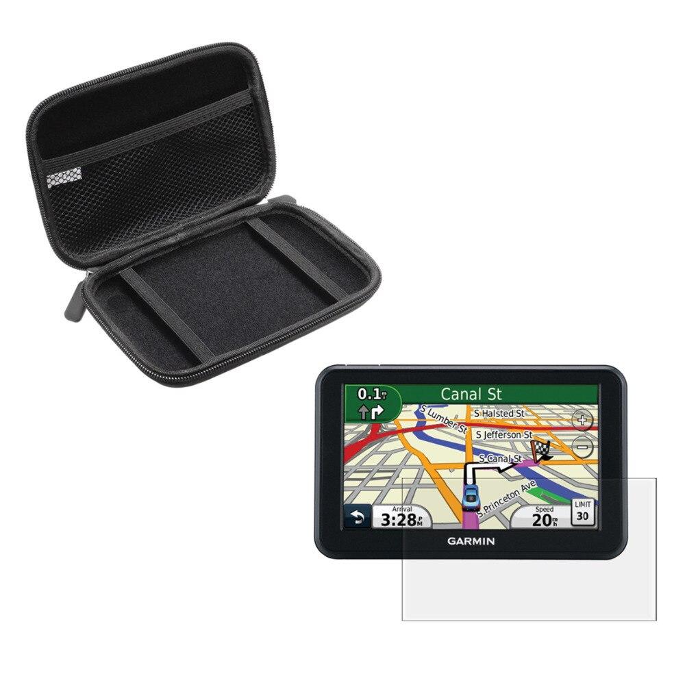 imágenes para 5 ''Inche Car Antichoque Llevar Portátil Protege el Caso + Pantalla Clara protector de la Película para Garmin Nuvi 50 50LM 50LMT 50LT Vehículo GPS