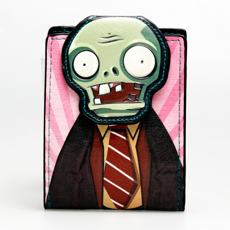 The plants vs. zombies wallet Young men and women the student individuality original short fashion purse DFT-1253 the wangs vs the world