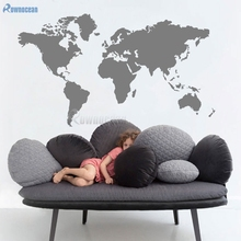 Big Size Wall Sticker World Map Home Decor Living Room Bedroom Vinyl Art Decals Atlas Removable Mural Wallpaper Customized C-23