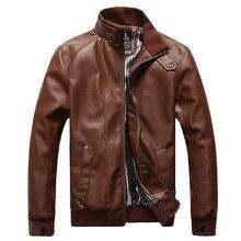 2016 heiße mode für männer lederjacke motorradbekleidung männer mantel Freies Verschiffen