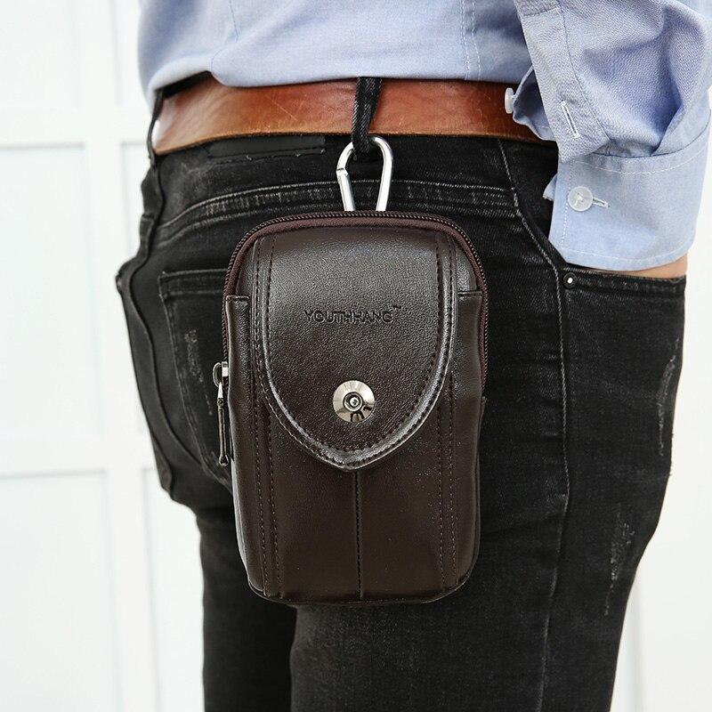 Mode män fickor mobiltelefon bälten bära bälten 5-6 tums - Bälten väskor - Foto 3