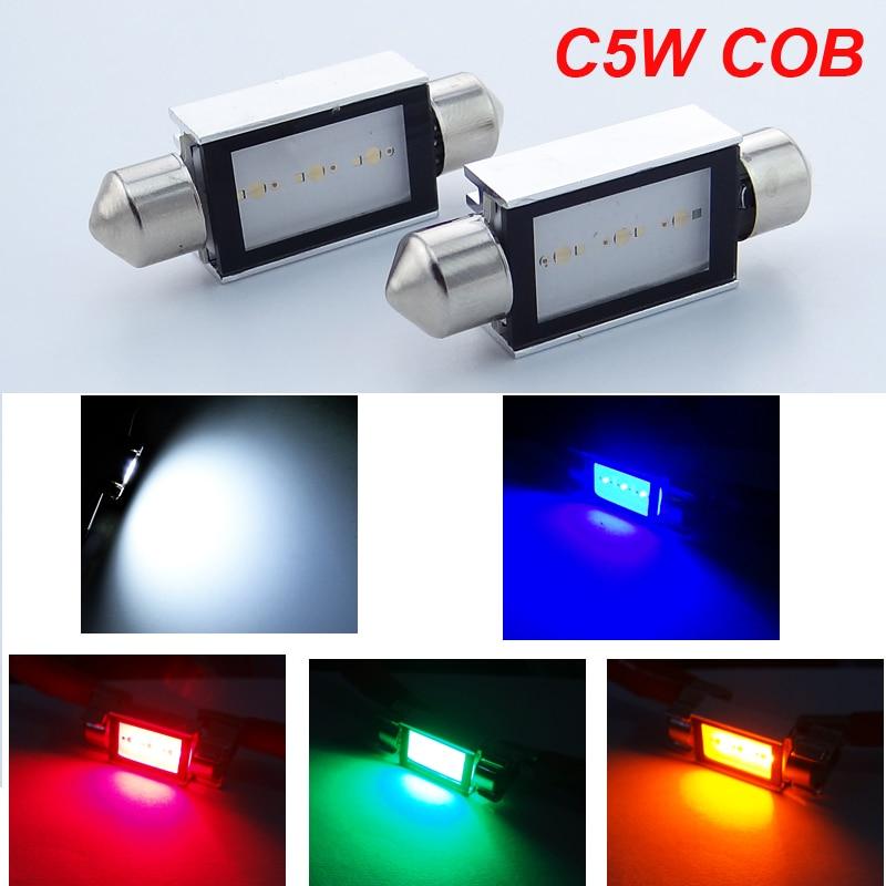 4pcs super quality 100% Error free c5w 12V COB 39mm <font><b>42mm</b></font> 6W 6418 6411 festoon <font><b>canbus</b></font> <font><b>LED</b></font> car Interior Light