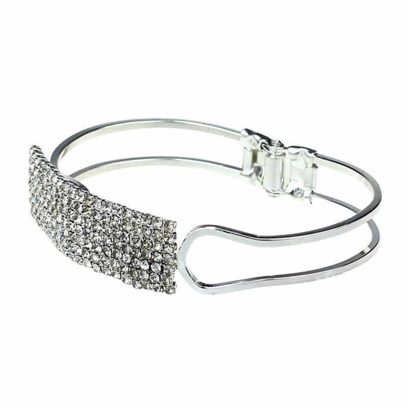 2017 תכשיטי צמידי צמיד קריסטל קאף צמיד אלגנטי גברת נשים עיצוב יוקרה בלינג באיכות גבוהה צמיד