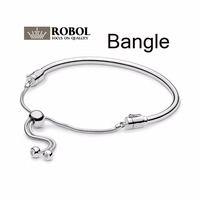 2019 Spring Original 1:1 New Moments 925 Silver Sliding DIY Bracelet 925 Silver 597953CZ Jewelry Gift for Girls Wholesale