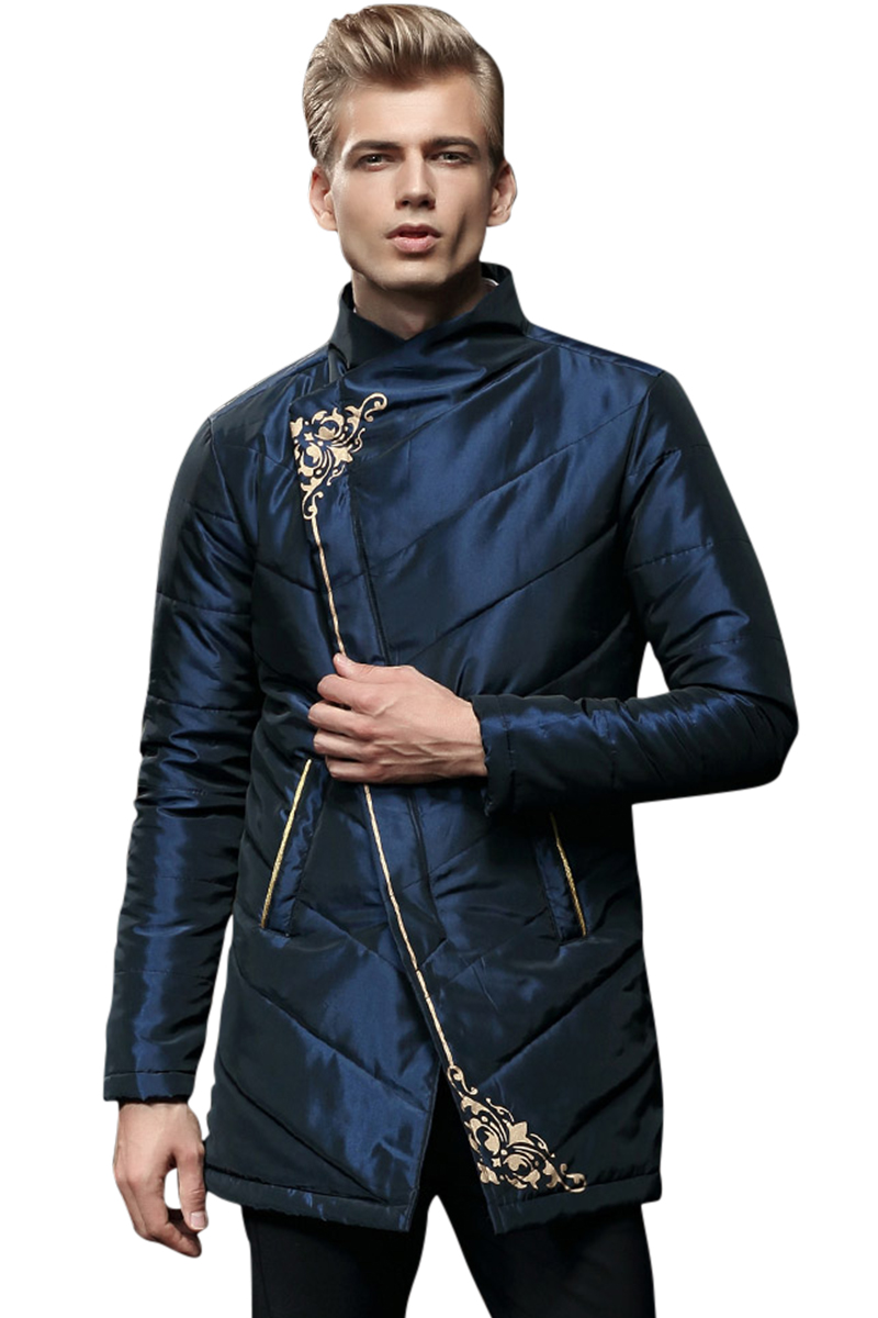 Free Shipping New mens winter clothing chromophous long-sleeve hood outerwear thermal print casual male down coat 0065 fanzhuan
