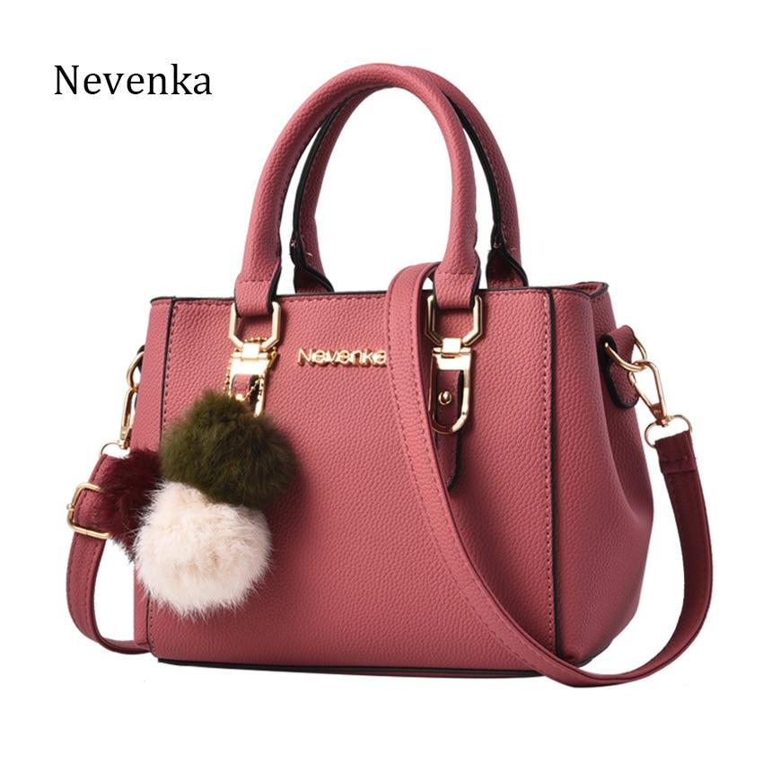 NEVENKA Women Bag Pu Leather Tote Brand Name Bag Ladies Handbag Lady Evening Bags Solid Female Messenger Bags Travel Fashion Sac nevenka women bag shoulder bag pu