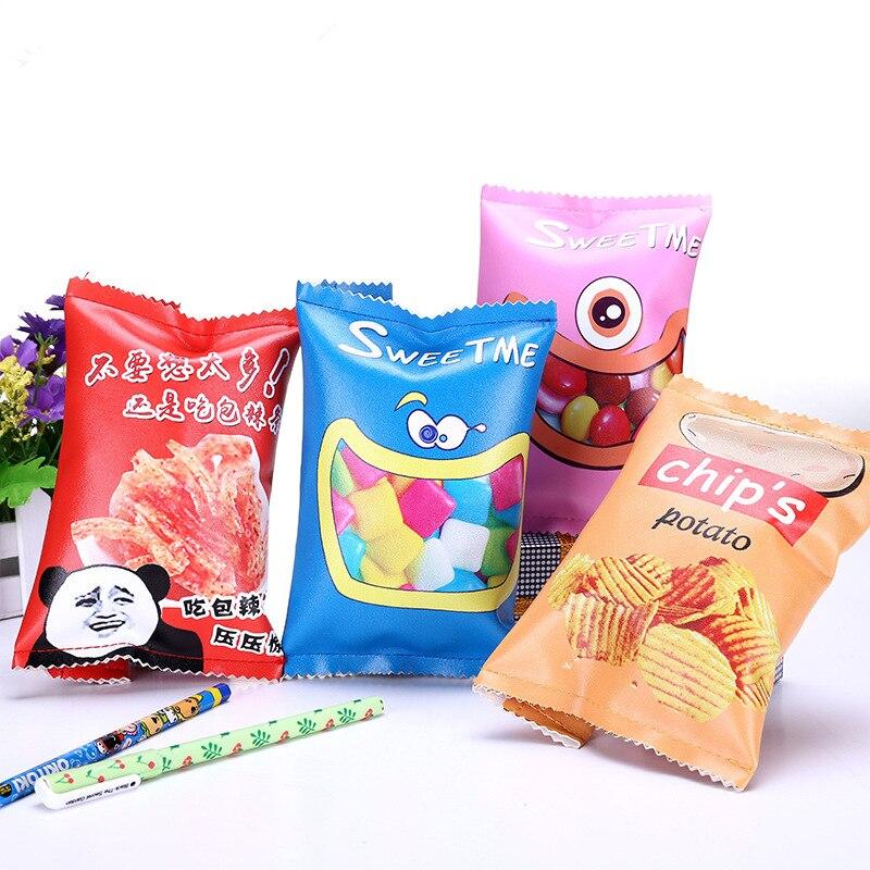 Creative Interesting Snacks Pencil Case For School Supplies Stationery Girls Boys Cute Pencil Bag Kawaii Student Pencil Box Gift