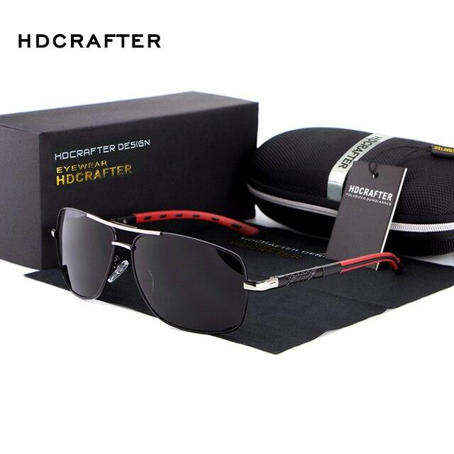 HDCRAFTER Men's Brand Polarized Sunglasses Universal Women Big Frame Polarized Sunglasses Leisure UV400 Sunglasses gafas E012-5