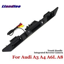 Liandlee Car Reverse Camera For Audi A3 A4 A6L A8 Rear View Backup Parking Camera / Trunk Handle Integrated High Quality цена и фото