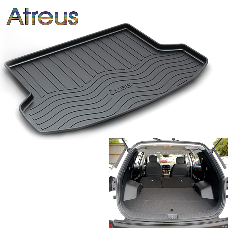 Atreus For Hyundai Creta ix25 ix35 Santa Fe Sonata Elantra Tucson 2017 2018 Accessories Car Rear Boot Liner Trunk Cargo Mat atreus anti slip car rear trunk floor mat durable carpet for hyundai ix35 creta ix25 santa fe sonata elantra tucson 2018 2017