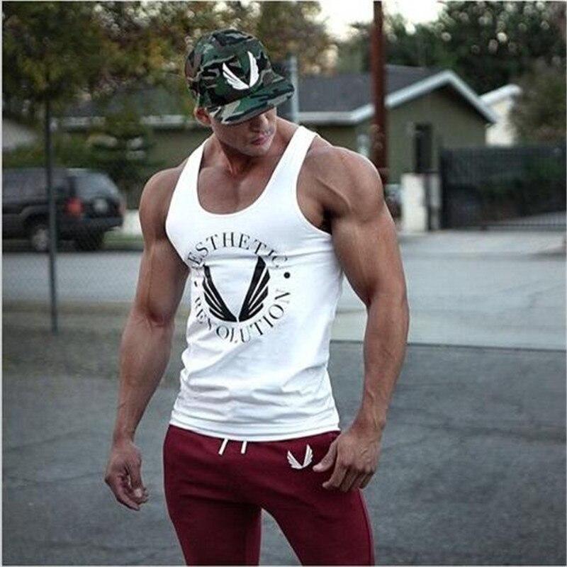 2016 Singuletts Mens Tank Tops Hemd, Bodybuilding Ausrüstung Fitness Herren Golds Stringer Tank Top Marke Kleidung SchüTtelfrost Und Schmerzen