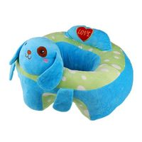 Baby Sitting Chair Baby Seat Learn To Sit Cute Animal Plush Toy Blue Dog