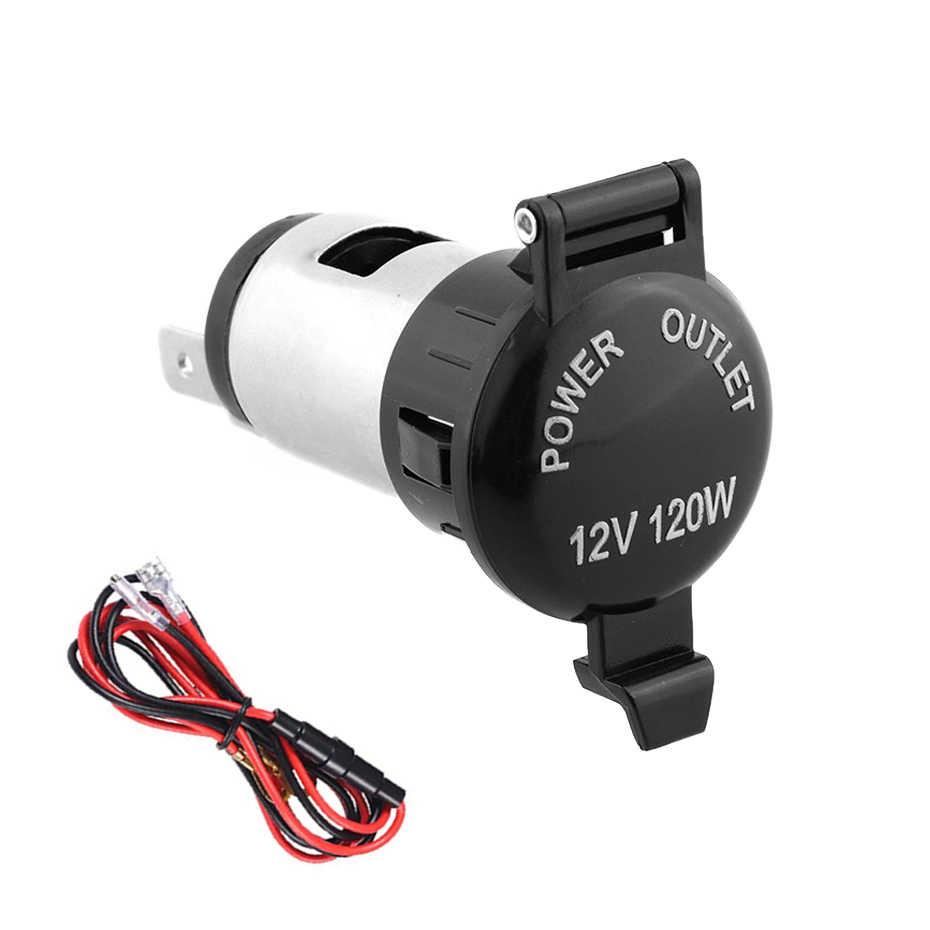 Car Accessories Waterproof Heat Resisting Plastic Power Socket DC 12V 120W Motorcycle Car Tractor Cigarette Lighter Plug Outlet