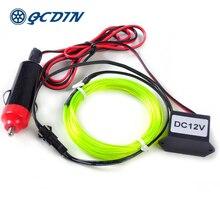 QCDIN 5m Interior Car Lighting 10 Colors EL LED Wire 12V EL Light Car Styling Flexible