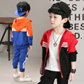 Niños Ropa de Chicos 2017 Niños Del Bebé Fijada Primavera y Otoño Abrigos Y Chaquetas y Pantalones de Moda de Corea Niños Ropa Deportiva juego Para El Niño
