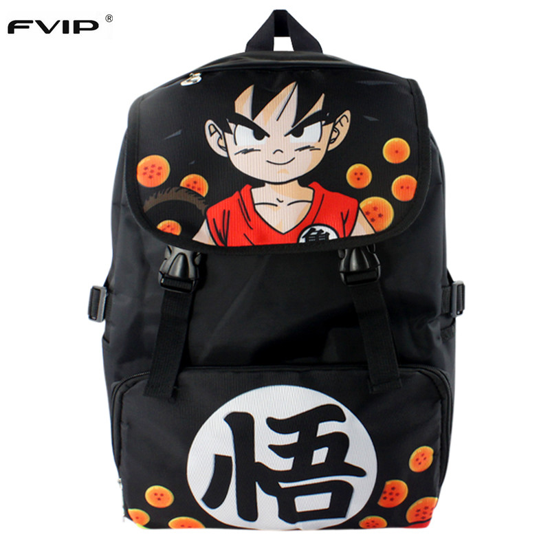 Anime Nylon Waterproof Laptop Backpack Double-Shoulder Bag Printed Dragon Ball Z/Naruto /Tokyo Ghoul School Bag For Students nylon double shoulder bag backpack