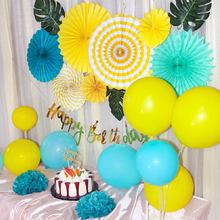 Tropical Jungle Birthday Party Decoration Boy Girl Happy Banner Paper Fans Balloon 1st Year Wild One Themed Decor