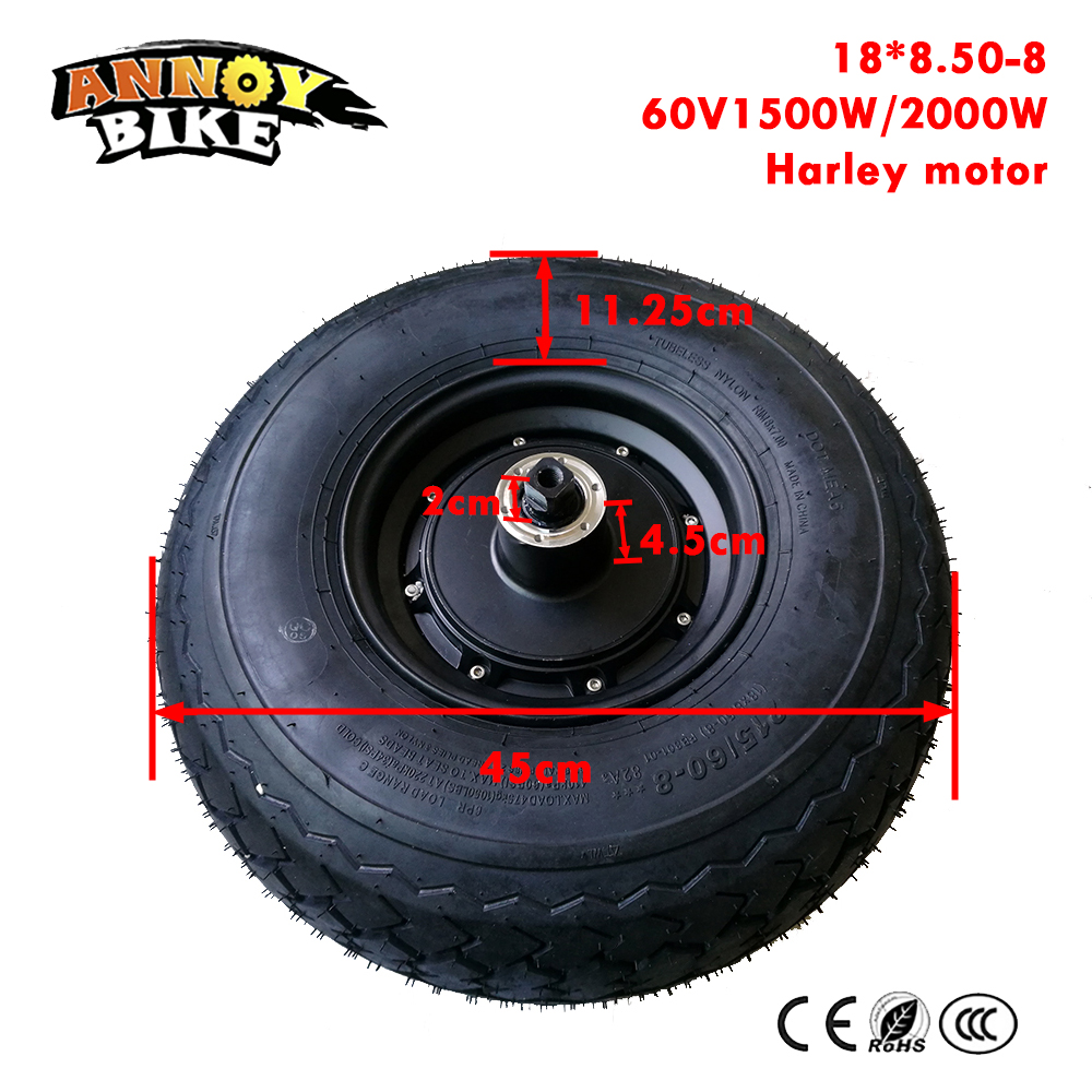60V 1500W 2000W 18 Inch Hub Motor Harley Electric Scooter Motor Kit Fat Tire 18*8.50-8 Front wheel E bike Motor Wheel60V 1500W 2000W 18 Inch Hub Motor Harley Electric Scooter Motor Kit Fat Tire 18*8.50-8 Front wheel E bike Motor Wheel