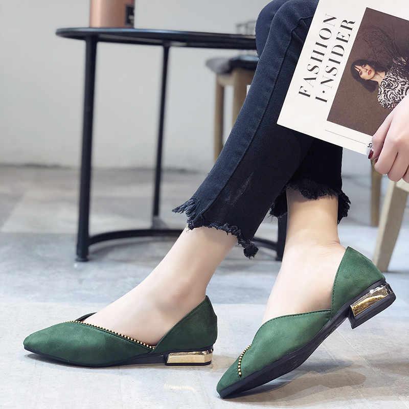 COOTELILI düz ayakkabı Kadın Rahat Akın Loafer'lar Bayanlar Oxfords Kadın Ayakkabı Flats Sivri Burun