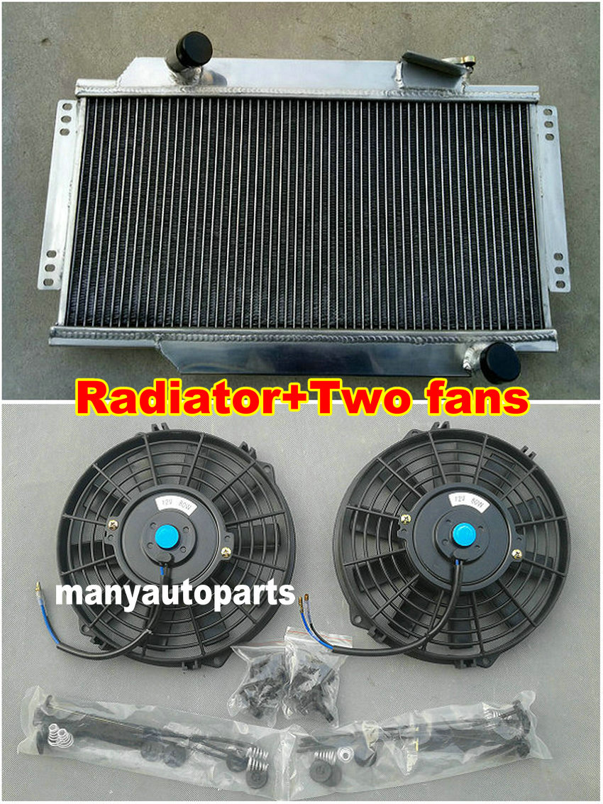 2 Row Aluminum Radiator Fans 1964 1978 For Triumph Spitfire Mark