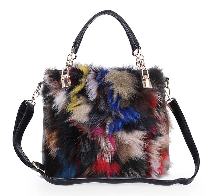 Women Shoulder Messenger Bags 2018 European Style Bag Winter Women Evening Bags For Party Fur Bag Bolsos Mujer Totes women messenger bags day clutches bag designer rabbit fur shoulder bags for party handbags women small evening bags bolsos a0325
