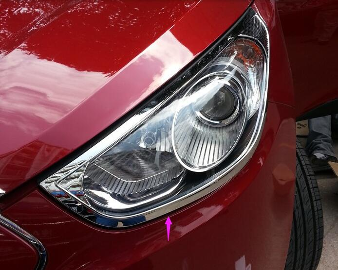 2pcs ABS Chrome Front Headlight Lamp Cover For Hyundai Tucson IX35 2010-2014 for renault kadjar 2016 abs chrome front headlight lamp cover trim headlamp covers 2pcs set