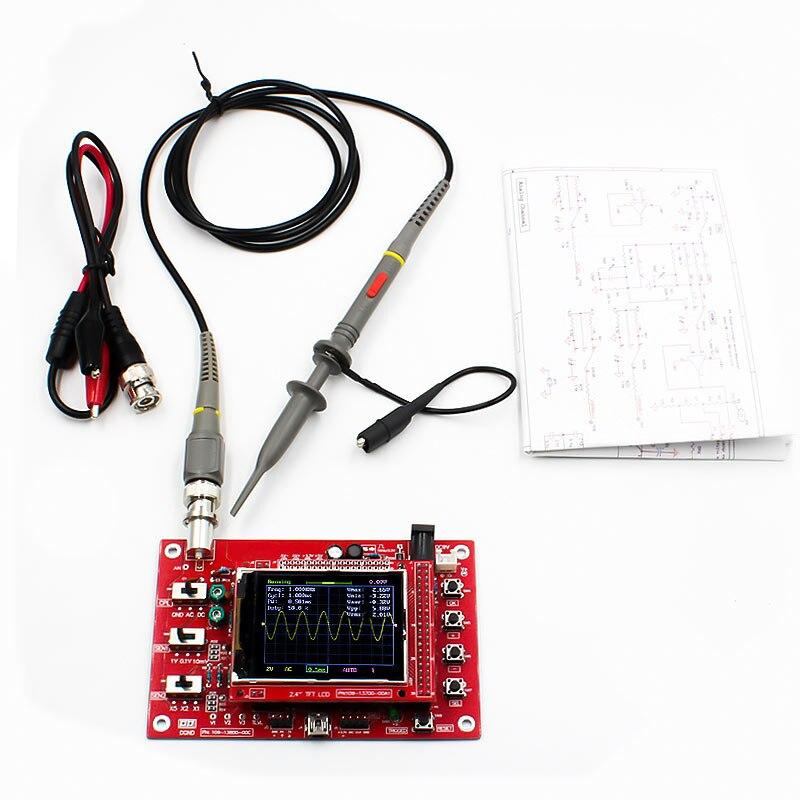 "Osciloscópio digital, dso FNIRSI-138 ""tft kit de osciloscópio digital de bolso kit diy peças portátil + p6100 sonda osciloscópio"