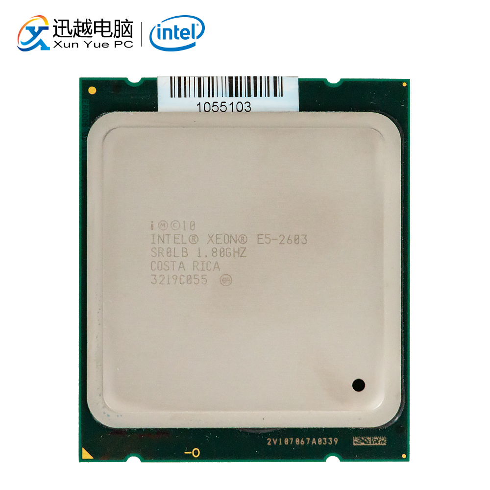 Intel <font><b>Xeon</b></font> E5-2603 Desktop Processor 2603 Quad-Core 1.8GHz 10MB L3 Cache <font><b>LGA</b></font> <font><b>2011</b></font> Server Used CPU image