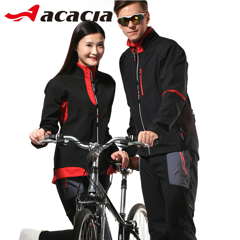 ACACIA Inverno Cycling Jersey Set Termale Calda Coppie Uomini Donne Giacche Manica Lunga Mutanda Mountain Bike Adatta 02369
