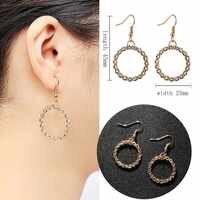Pendientes colgantes de Metal para mujer pendientes de moda de círculo de fiesta de pendiente de joyería de regalo