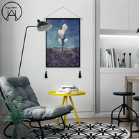 Nordic Hanging Canvas Decors Cloth Painting Cotton Tapestry Tapestry Macrame Wall Hanging Wall Tapestry Home Decor