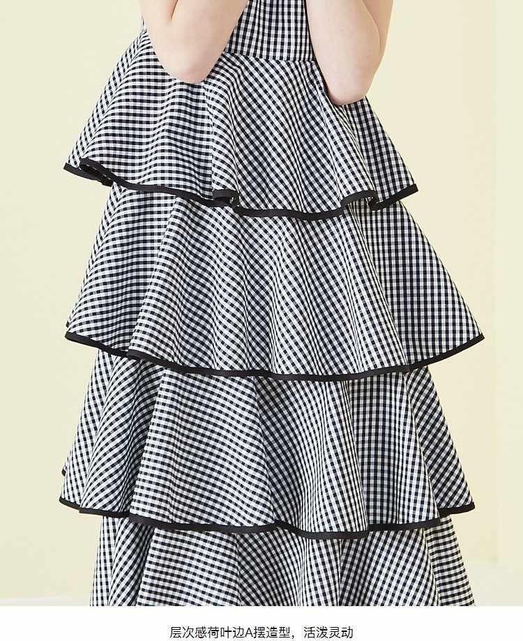 Летние женские клетчатые платья черные сексуальные винтажные вечерние пляжные платья без рукавов без бретелек с v-образным вырезом торт оборки платье 2018 новое облегающее