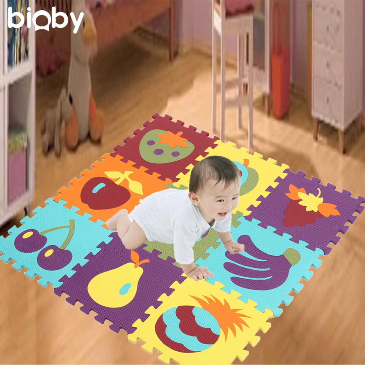9 шт. Блокировка EVA пены детские игровые коврики игровой Напольный пазл ползающий коврик 30x30 см детские коврики детские развивающие игры одеяло