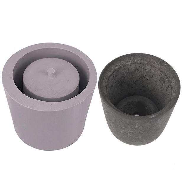Round Cement Flower Pot Silicone Mold DIY Home Decoration Clay