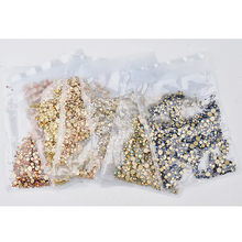 1440pcs/bag Nail Rhinestones Small SS6-SS20 Flatback Glass For Nails Art Decoration Round Beads Rhinestone Stone T6I