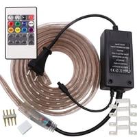 5050 LED RGB Şerit AC 220 V 110 V Ruban LED IP68 Su Geçirmez açık Tira Esnek Şerit RGB Neon Flex 3 m 5 m 10 m 15 m