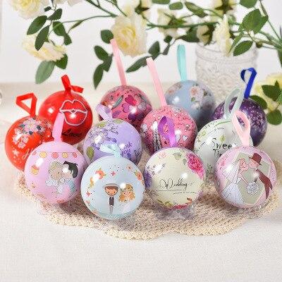 20 boules/Set boîte à bonbons en métal boîte cadeau de mariage fête emballage de noël boîte à chocolat petites boîtes pour cadeaux
