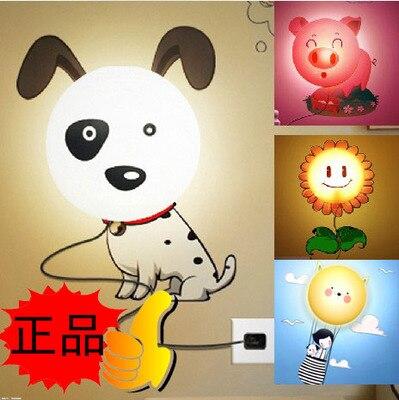 ФОТО Special flower Yan 3D wallpaper wall lamp Nightlight cartoon lamp children bedroom bedside lamp