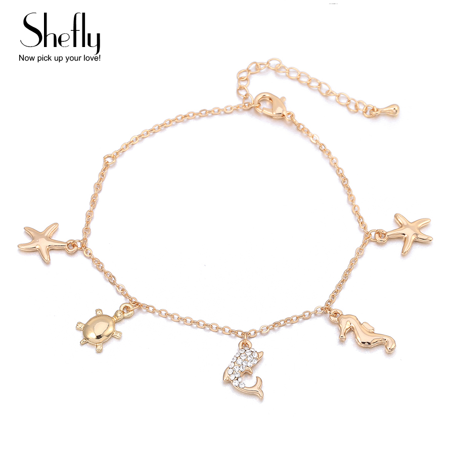 Silver Starfish Ankle Bracelet Charm Beach Anklet Pendant Fashion Jewelry Chain At All Costs Fashion Jewelry
