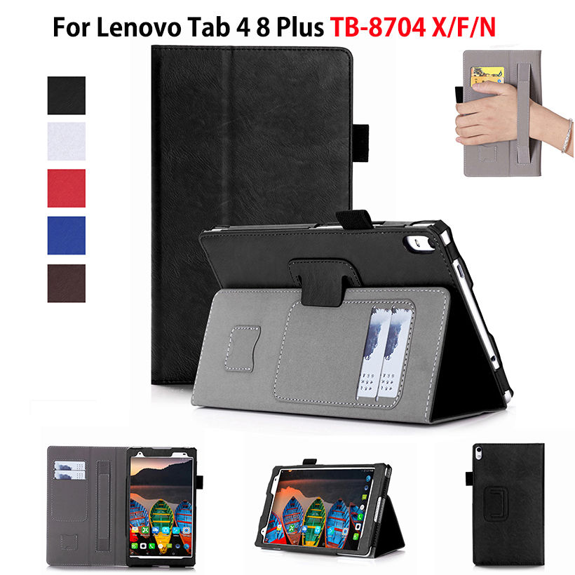 LIMELAN Case For Lenovo Tab 4 8 Plus TB-8704X Cases TB-8704F TB-8704N 8 Cover Funda Tablet Leather Hand Holder Stand Shell magnetic smart pu leather cover for lenovo tab 4 8 plus tb 8704f tb 8704n 8 0 tablet funda case with auto sleep screen film pen