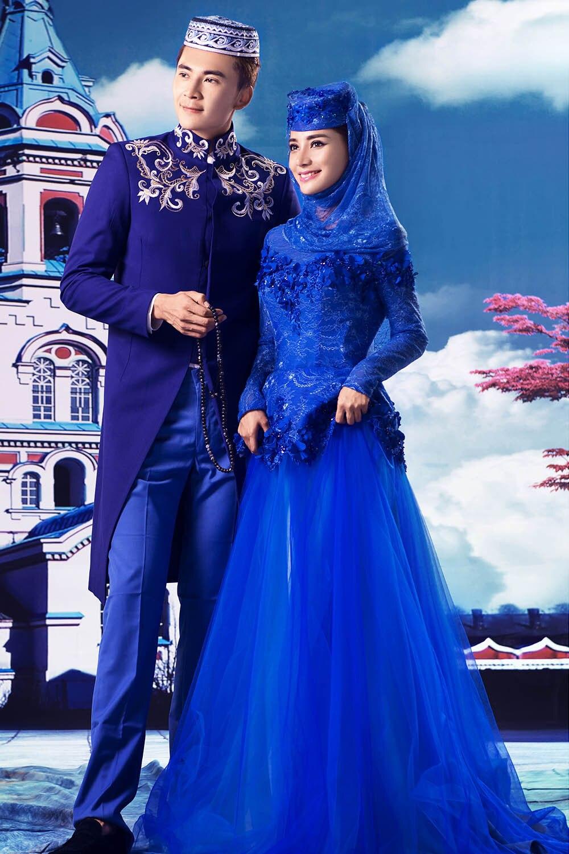 Ihram Kids For Sale Dubai: Royal Blue Abaya Dubai Muslim Lace Islamic Arabic Prom
