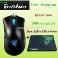 Nova marca original razer deathadder rato gaming mouse, 3500 dpi, razer goliathus mouse pad/tamanho: 320x250x4mm + frete grátis