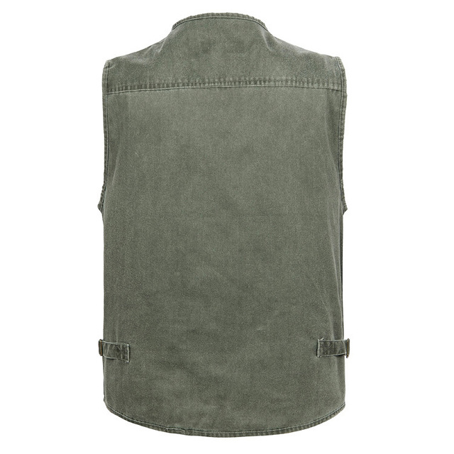 Grandwish Large Size Mens Cotton Sleeveless Unloading Fashion Waistcoat With Many Pockets Male Military Vest Plus Size 7XL,DA848