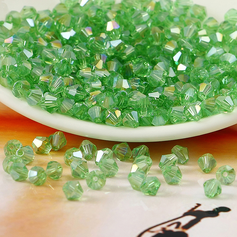 5301# Grade AAA Green AB Color 3mm 4mm,6mm,8mm Crystal Bicone Beads,Garmet/Jewelry Stones Decoration Free shipping